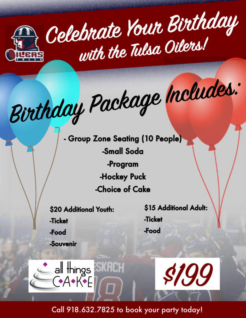Things To Do in Tulsa Tulsa Oilers Birthday Parties