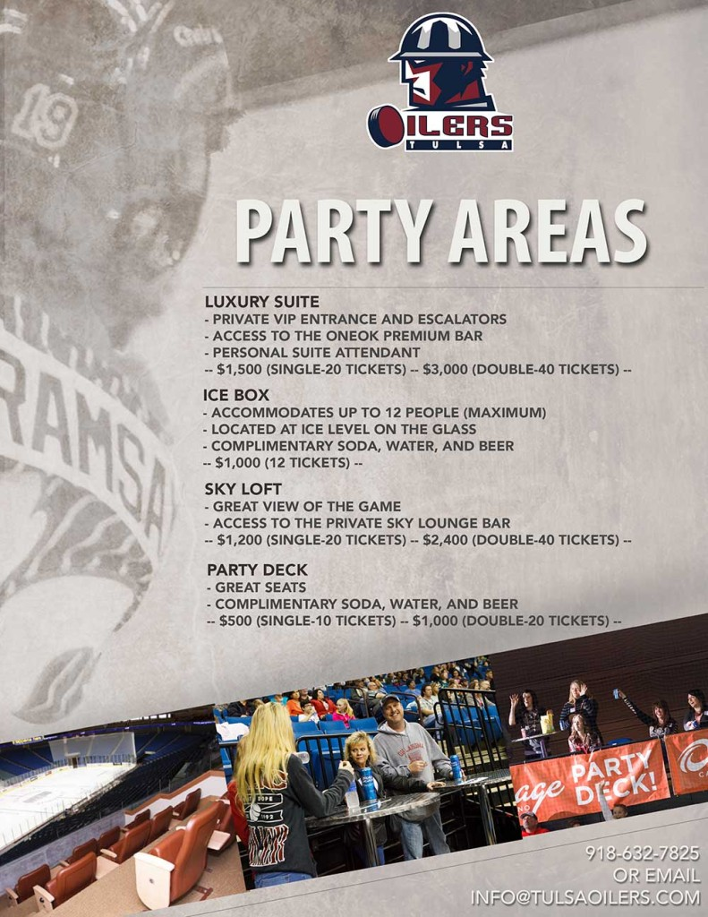 Party Areas | Tulsa Oilers Hockey