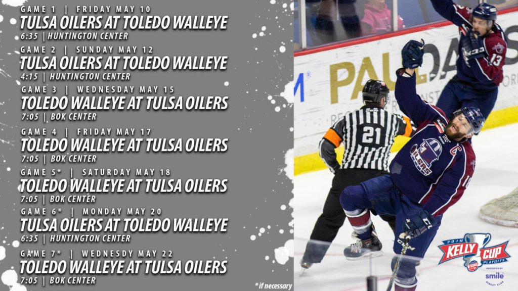 Oilers Announce Schedule For Western Conference Finals Tulsa Oilers
