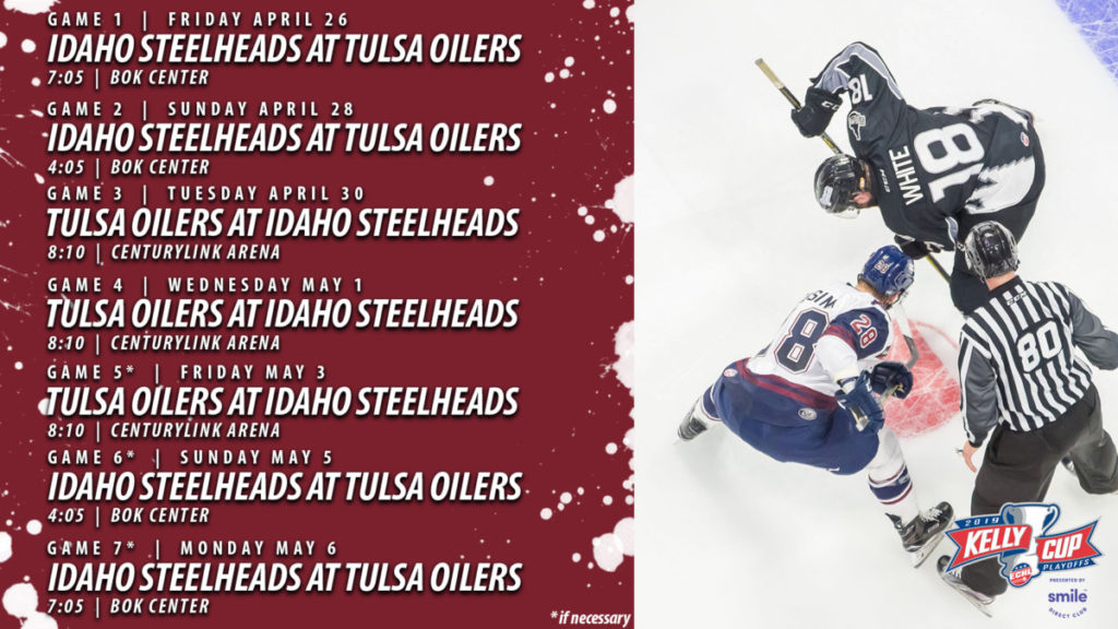 Oilers Announce Schedule For Mountain Division Finals Tulsa Oilers