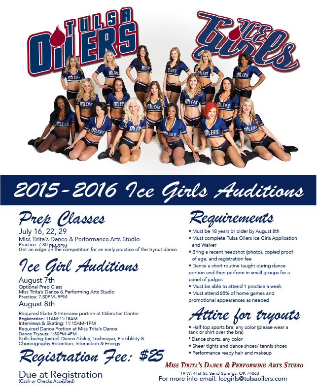 Ice Girls Auditions 2015-2016