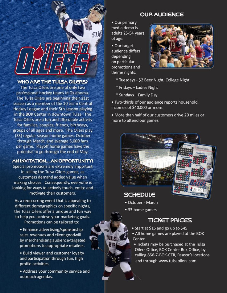 Corporate Sponsorship Opportunities - Page 1 | Tulsa Oilers