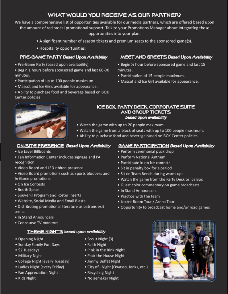 Corporate Sponsorship Opportunities - Page 2 | Tulsa Oilers