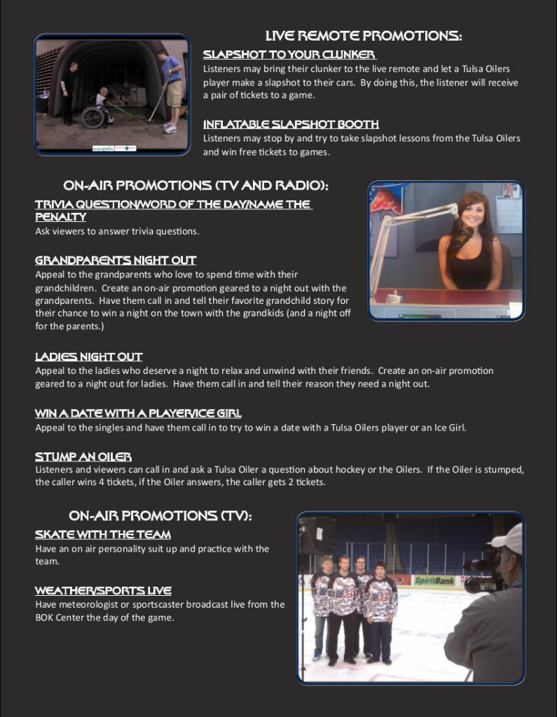 Corporate Sponsorship Opportunities - Page 4 | Tulsa Oilers