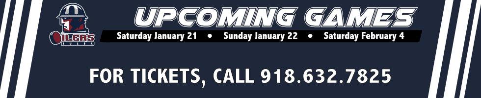 Upcoming Games| Tulsa Oilers
