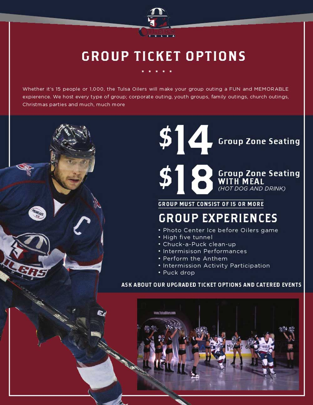 Group Tickets | Tulsa Oilers Hockey